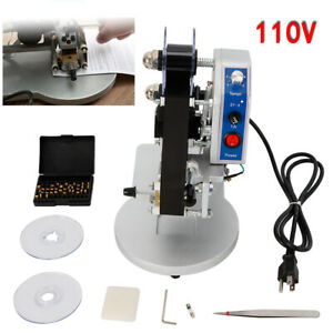 Hot Stamp Printer 110v Ribbon Manual Hot Foil Stamping Printer Date Code Machine