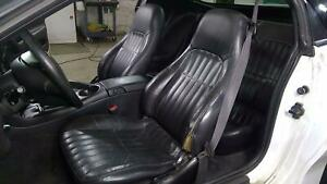 99 02 Chevy Camaro Black Leather Seat Set front rear Oem black 192