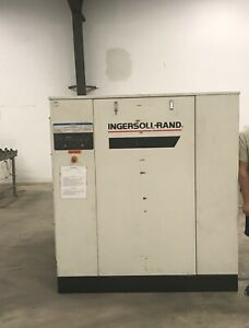 Ingersoll Rand Air Compressor 480v 50 100hp 2001 With 2001 Air Dryer Ts500 Model