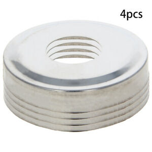 4x Ladder Hand Rail Escutcheon Cover Plate Base Replaces Stainless Steel Silver
