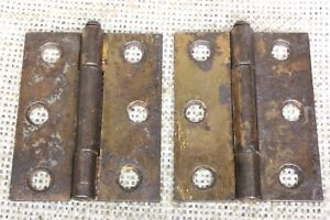 2 Old Door Hinges Interior Shutter Rustic Copper 2 1 8 X 1 3 4 Removable Pin