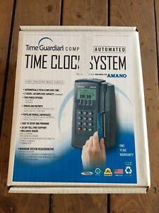 Brand New Amano Mtx 15 Time Clock System 25 Employee Badges And More