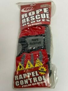 Ringers Rope Rescue Gloves Rappel Control Gel Padding Red black gray Dnr