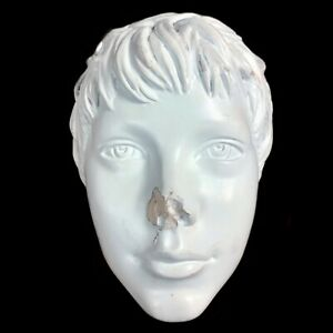 Creepy Teen Girl Boy Gender Neutral Mannequin Head Statue Used Replacement Part