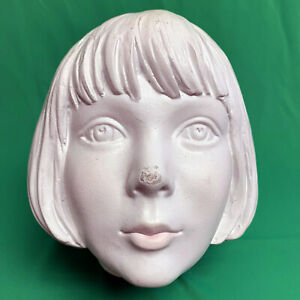 Creepy Cute Teen Girl Kid White Statue Mannequin Head Used Replacement Part