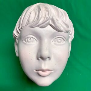 Creepy Cute Teen Boy Kid White Statue Mannequin Head Used Replacement Part