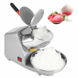Commercial Manual Electric Ice Crusher Shaver Machine Snow Cone Maker Shaved Ice