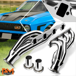 For 63 77 Ford Mustang Cougar 260 302 V8 Stainless Steel Exhaust Header Manifold