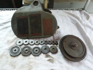 South Bend 9 10k Lathe Metric Transposing Gear Complete 14 Gears 127 100 Cover