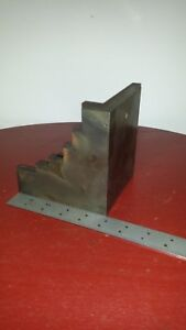 Antique Block Workholding Fixture Angle Plate Planer Shaper Mill Metal Old