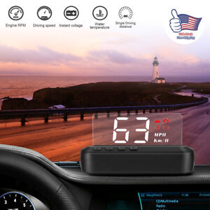 C100 Led Digital Car Obd Speed Water Temperature Hud Head Up Display Speedometer