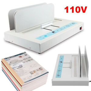 110v Electric Binding Machine Book Magazine envelope A4 Paper Hot Melt Binder