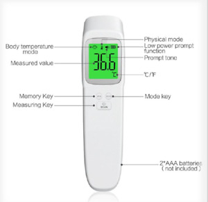 Medical Non contact Forehead Ir Infrared Digital Thermometer Fast Free Shipping