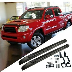 Black Aluminum Roof Rack Cross Bar Luggage Cargo Carrier For 05 20 Toyota Tacoma