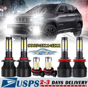 For Jeep Grand Cherokee 2014 2018 Combo Led Headlight fog Light Bulbs Kit 6000k
