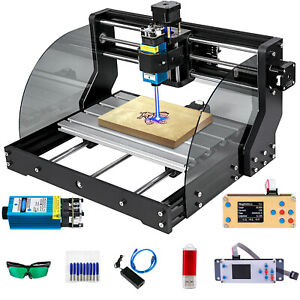 Cnc 3018 Pro Max Mini Woodworking 500mw Laser Engraver 3 Axis Pcb Router Miller