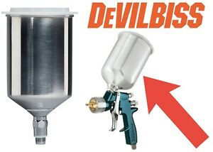 Devilbiss 803610 Replacement Metal Cup 600cc Push In Lid New Free Shipping Usa