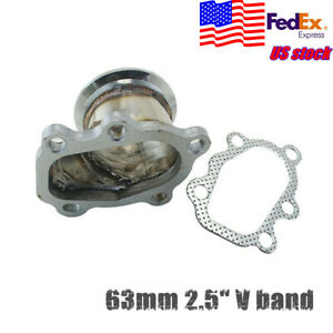 63mm 2 5 Vband Flange Adapter For Gt25 Gt28 T25 T28 Turbo Down Pipe 5 Bolt Us