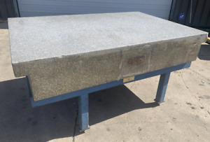 48 X 72 X 12 Rock Of Ages Granite Surface Plate With Steel Stand Ybm 11185