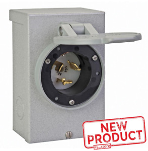 Outdoor Power Inlet Box 50 Amp Hardwire Transfer Switch Generator Transfer Panel