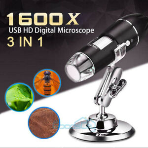 40x 1600x 8 Led Digital Microscope Camera Handheld Usb Magnification Endoscope
