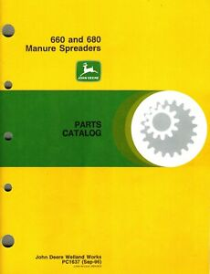 John Deere 660 680 Manure Spreader Parts Manual new Jd