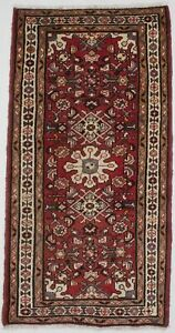 Tribal Floral Semi Antique Red 2 3x4 5 Small Hand Knotted Oriental Rug Carpet