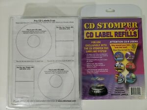 Cd Stomper Pro Cd dvd Labeling System Label Refills Pro Edition 400 Labels