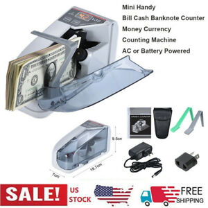 Mini Handy Bill Cash Banknote Counter Money Currency Counting Machine 6v N6c1
