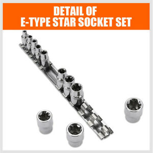 11pc Torx Star Bit Female E Socket Automotive Shop Tools External Set E4 E20