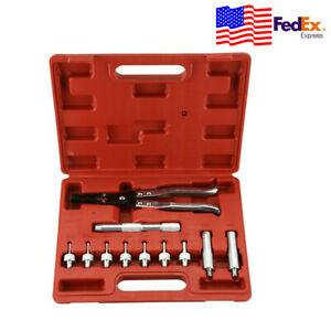 11pc Auto Valve Stem Seal Plier Seating Hand Supplies Remover Installer Tool Kit
