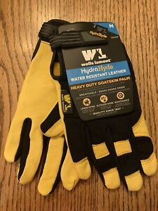 Hydrahyde Premium Goat Skin Leather Work Gloves Wells Lamont Men s Medium