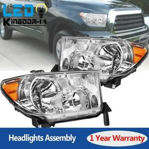 For 2007 13 Toyota Tundra 08 17 Sequoia Factory Style Headlights Replaccement