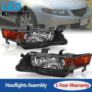 For 2004 2005 Acura Tsx Sedan 4dr Projector Headlights Pair Hid Xenon Headlamps
