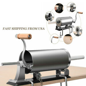 6lb Sausage Stuffer Maker Meat Filler Solid Stainless Steel And Aluminum Machine