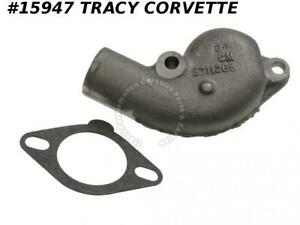 1955 1962 Corvette 3711268 Thermostat Housing Water Outlet Neck Iron Correct