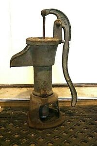 Vintage Duplex P200 Water Well Hand Pump Cast Iron Superior Wis Antique