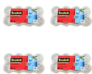 Scotch Heavy Duty Shipping Packaging Tape 1 88 Inches X 54 6 Yards 8 Rolls Pack