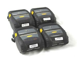 Lot Of 4 Zebra Zq510 Bluetooth Mobile Rugged Thermal Printer No Battery adapter