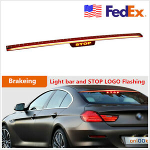 Streamline 90cm Led Car Brake Stop Light Bar Flashing Tail Lamp Light stop Logo