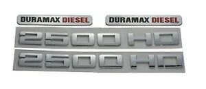 2500 Hd Nameplates Emblems duramax Diesel Allison 3d Decals Badges Gm Silverado