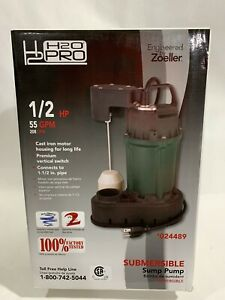 H2o Pro 1 2 Hp Cast Iron Submersible Sump Pump 024489