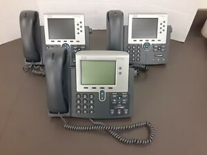 3 Cisco Phones M 7965 X2 And 1 M 7942 17014bb