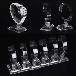 Clear Acrylic Bracelet Watch Display Holder Stand Rack Retail Shop Showcase Jkci