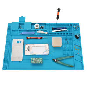 Insulation Pad Heat Resistant Soldering Station Silicon Soldering Mat 18x12 In
