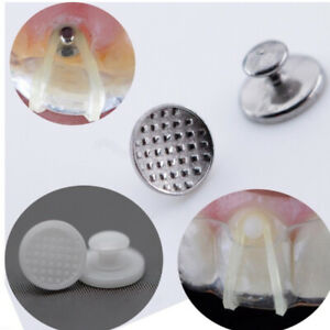 50pc Ceramic Braces Orthodontic Lingual Button Dental Supplies Oral Orthodontic
