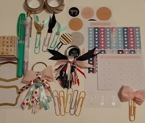 Assorted New And Handmade Planner Accessories