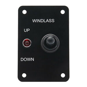 12v Anchor Winch Windlass Up down Toggle Switch Control Panel With Led