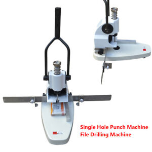 0 30mm Thickness Album paper tags Single Hole Punch Machine File Drilling Kit