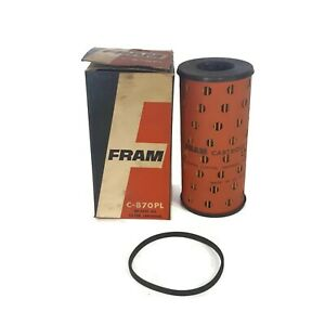 By Pass Oil Filter Cartridge Vintage Fram C 870pl 1950 1954 Triumph Morgan Nos